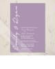 Simple and Elegant Lavender Wedding Invitation (10 pk)