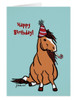 Cowboy Party Pony Birthday Greeting Card