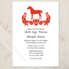 Damask Horse Elegant Wedding Invitation (10 pk)