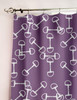 Equestrian Horse Bits Pattern Window Curtains