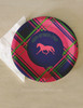Customized Pink Plaid Horse Birthday Paper Party Plates (8 pk)