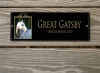 Art Deco Style Photo Acrylic Horse Stall Name Plate