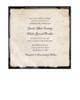 Rustic Vintage Photo Frame Wedding Invitation (25 pk)