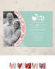Damask Border Photo Template Wedding Invitation