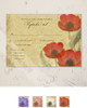 Poppy Flowers Wedding RSVP card (10 pk)