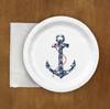 Nautical Wedding Ship Anchor Paper Party Plates (8 pk)