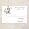 Thin Retro Border Wedding RSVP card (10 pk)