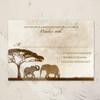African Elephants Zoo Wedding RSVP card (10 pk)