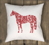 Reversible Country Horse Throw Pillow