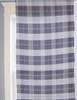 Blue Plaid Horse Bits Pattern Curtains