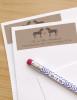 Whimsical Heart Horse Wedding Return Address Labels