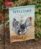 Rooster Art Chicken Lover Garden Flag
