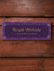 Elegant Damask Accent Custom Acrylic Horse Stall Name Plate