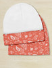 Country Floral Horse Pattern Equestrian Baby Beanie Hat