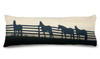 Horses at the Fence Body Pillow for the equestrian.