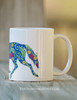 Trotting Floral Patterned Horse Coffee Mug