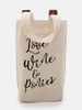 Love, Wine, and Ponies Equestrian Themed Double Wine Tote