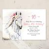 Whimsical White Pony Birthday Party Invitation (10 pk)