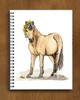 Cute Buckskin Pony with Dandelions Watercolor Art Spiral Notebook