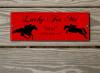 Custom Ex-Race Horse Themed Acrylic Horse Stall Name Plate