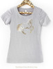 Gold Foil Dressage Horse Sketch Women's Crew Tee