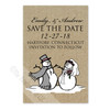 Snowman and Bride Save The Date Postcards (25 pk)