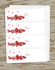 Snowflake Trout Holiday Gift Tag Labels
