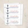 Beach wedding ship anchor return address labels
