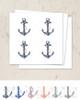 Nautical Beach Wedding Ship Anchor Stickers