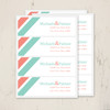 coral and mint wedding stationery return address labels