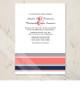 Modern Stripes Wedding Invitation (10 pk)