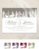 Christmas horse sleigh wedding invitation