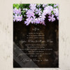 purple phlox flowers garden wedding invitation
