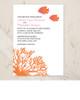 Tropical Coral Beach Wedding Invitation (10 pk)