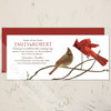 Winter Cardinal Birds Wedding Invitation