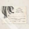 Vintage willow tree wedding invitation response card
