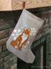 Snow Fox Christmas Stocking