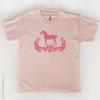 Pink Damask Horse Kids T-Shirt