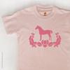 Pink Damask Horse Girl's or Kids T-shirt