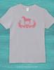 Elegant Damask Horse Adult T-Shirt