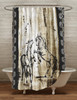 Rustic Rearing Horses Shower Curtain