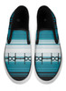 Blue Horse Bits Serape Pattern Equestrian Slip on Shoes