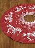Christmas Snowflake Horse Tree Skirt