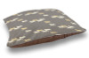 Grey and Yellow Trotting Horses Country Dog Bed