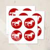 Heart Horse Valentine's Day Equestrian Stickers