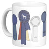 Champion Horse Show Ribbons Ceramic Mug