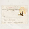 Autumn Horses wedding rsvp card for the equestrian themed wedding