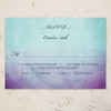 Purple and Teal Artsy Bohemian Wedding response card
