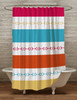 Striped Horse Bits Equestrian Themed Shower Curtain