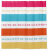 Modern Equestrian themed striped patterned Shower Curtain